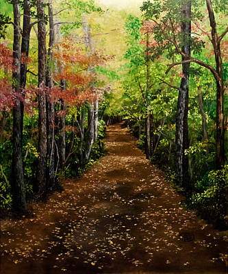 Art Print featuring the painting Virginia Path by Jessica Tookey
