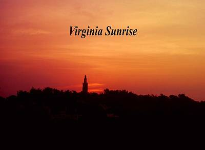 Photograph - Virginia Sunrise by Gary Wonning
