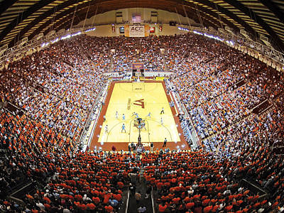 Unc Photograph - Virginia Tech Hokies Cassell Coliseum by Replay Photos