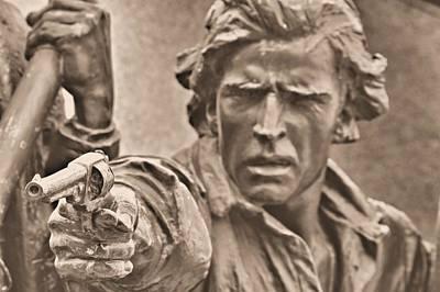 Virginia To Her Sons At Gettysburg - War Fighters - Taking Dead Aim B1 Art Print