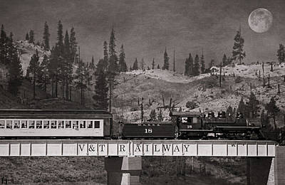Virginia Truckee Railroad Art Print by Donna Kennedy
