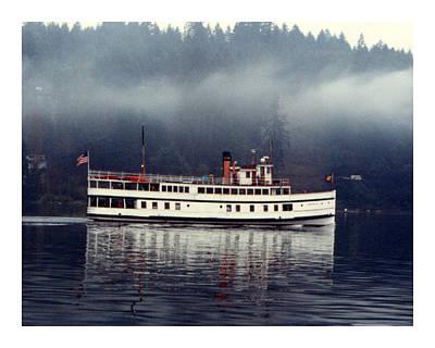 Steamer Virginia V Misty Reflections Art Print