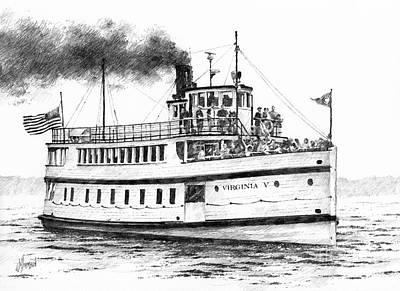 Virginia V Steamship Art Print