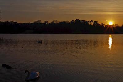 Sunset Photograph - Virginia Water Sunset by Maj Seda