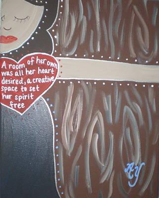 Painting - Virginia Woolf by Angela Yarber