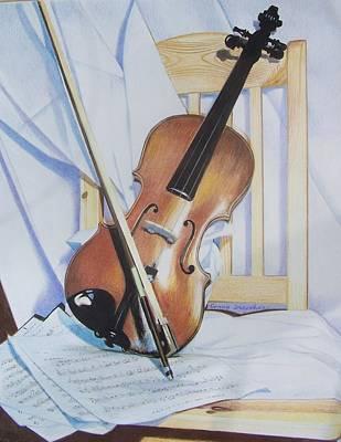 Virginia's Violin Art Print by Constance Drescher