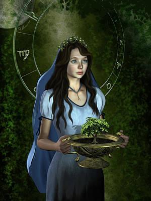 Zodiac Symbols Mixed Media - Virgo  by Britta Glodde
