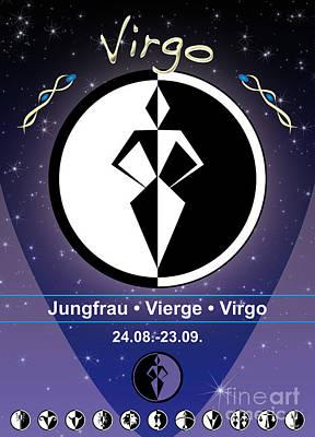 Signs Of The Zodiac Digital Art - Virgo by Fabian Roessler
