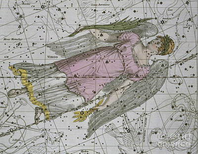 Astrology Painting - Virgo From A Celestial Atlas by A Jamieson