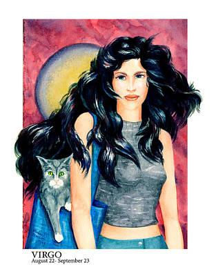 Virgo Art Print by Michael Baum
