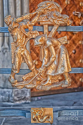 Virgo Photograph - Virgo Zodiac Sign - St Vitus Cathedral - Prague by Ian Monk