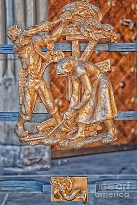 Prague Photograph - Virgo Zodiac Sign - St Vitus Cathedral - Prague by Ian Monk