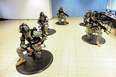 Hi-tech Photograph - Virtual Reality Military Training by U.s Army