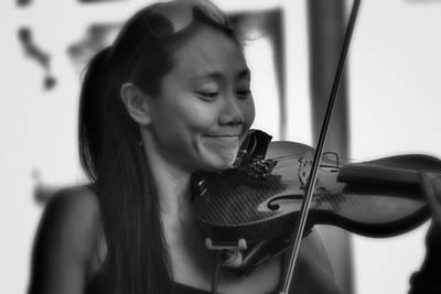 Photograph - Virtuoso On Rue Royal by Nadalyn Larsen