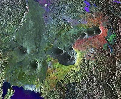 Diverse Photograph - Virunga Mountains by European Space Agency