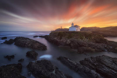Ocean Sunset Photograph - Virxe Do Porto II by Carlos F. Turienzo