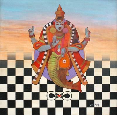 Vishnu Art Print by J W Kelly