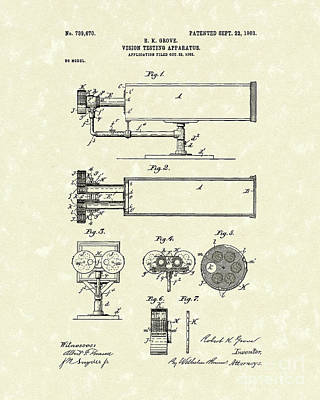 Drawing - Vision Apparatus 1903 Patent Art by Prior Art Design
