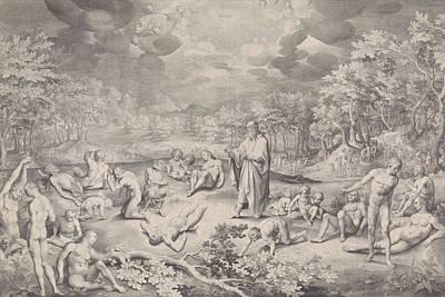 Vision Of Ezekiel Across The Valley Of Bones Art Print