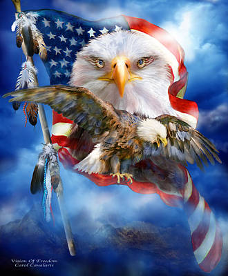 Eagle Mixed Media - Vision Of Freedom by Carol Cavalaris