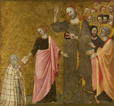 Catholic For Sale Painting - Vision Of The Blessed Clare Of Rimini by Master of the Blessed Clare