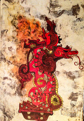 Mayan Painting - Vision Serpent by Judith Murphy