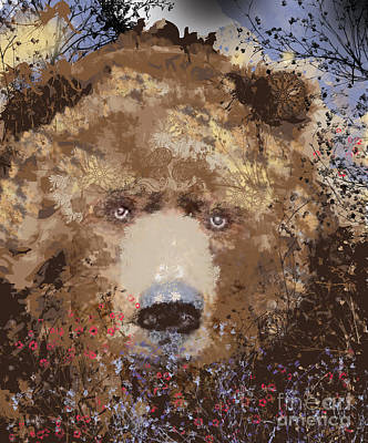 Mixed Media - Visionary Bear by Kim Prowse