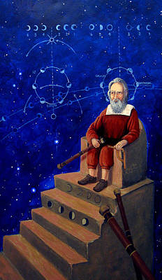 Painting - Visionary Of Stars Galileo Galilei  by Janelle Schneider