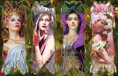 Visions Art Print by Drazenka Kimpel