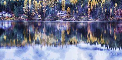 Visions- Lake Inez Art Print by Janie Johnson