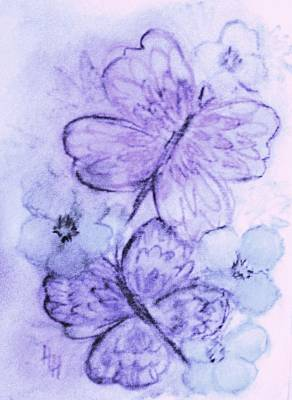 Painting - Visions Of Spring In Lavender by Hazel Holland