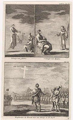Luminous Drawing - Visions Of St. Jacob And St by Jan Luyken And Jacobus Van Hardenberg And Barent Visscher