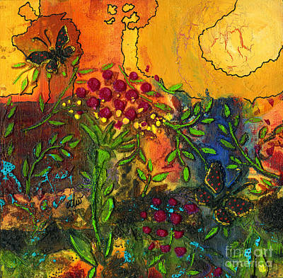 Mixed Media - Visions Of Summer Danced In My Head by Angela L Walker
