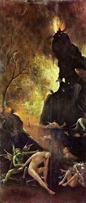 Netherlands Painting - Visions Of The Hereafter - Hell by Hieronymus Bosch