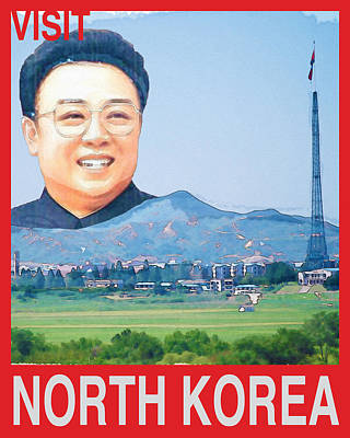 Visit North Korea Travel Poster Art Print