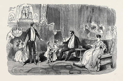 Visit Of The King Of The French To Queen Victoria Print by English School