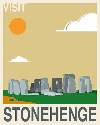 Supernatural Digital Art - Visit Stonehenge Travel Poster by Finlay McNevin