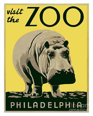 Philadelphia History Painting - Visit The Zoo - Philadelphia by Pablo Romero