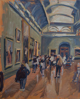 Painting - Visit To The National Gallery by Nop Briex