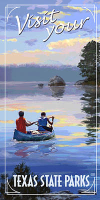 Canoeing Digital Art - Visit Your State Park by Jim Sanders