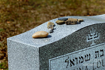 Visitation Stones On Jewish Grave Print by Amy Cicconi