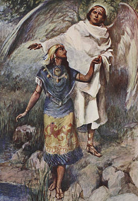 Wings Drawing - Visitation by William Sewell