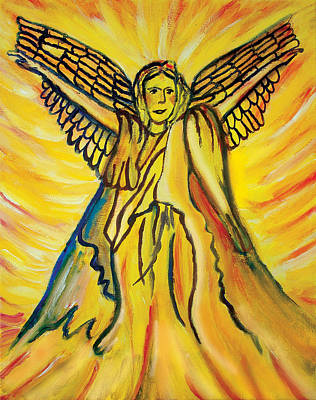 Worthy Painting - Visiting Angel by Susan Lyon Hea