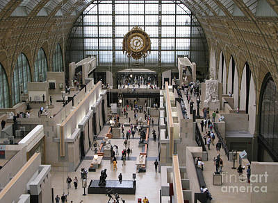 Visiting The Musee D'orsay Art Print by Ann Horn