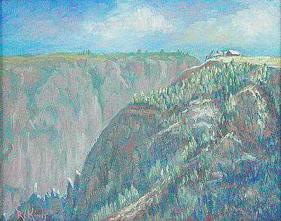 Painting - Visitors Center Black Canyon Of The Gunnison Np by Roena King