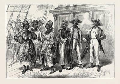 Visitors On Board The Volta Art Print