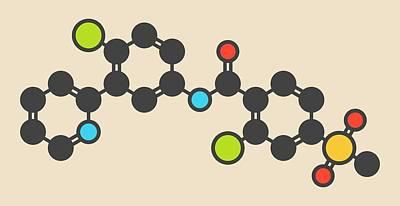 Basal Photograph - Vismodegib Cancer Drug Molecule by Molekuul