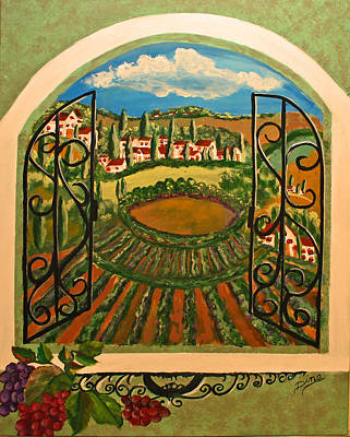 Painting - Vista Dalla Campagna Toscana by Dina Jacobs