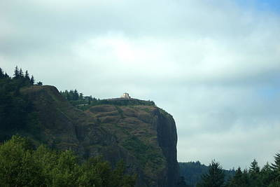 Vista House At Crown Point Promontory Art Print by Lizbeth Bostrom