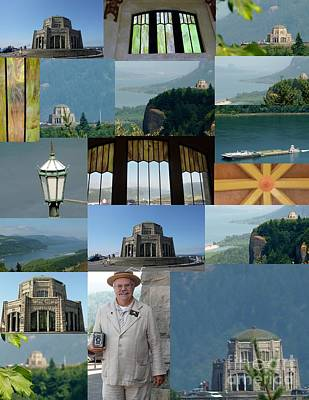 Photograph - Vista House Collage by Susan Garren